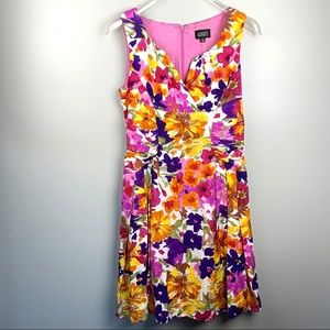 Adrianna Papell Floral watercolor Dress size 14
